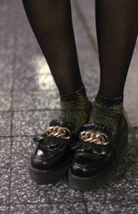 αστραφτερές κάλτσες