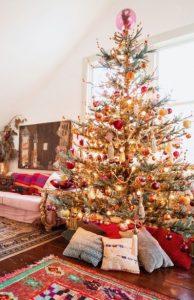 boho χριστουγεννιάτικος στολισμός