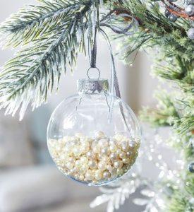διαφανής χριστουγεννιάτικη μπάλα