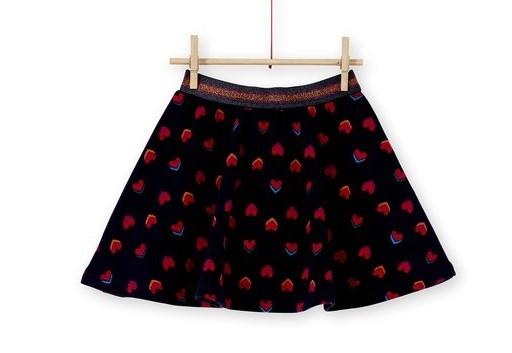 φουστα μαυρη με λουλουδια κοκκινα