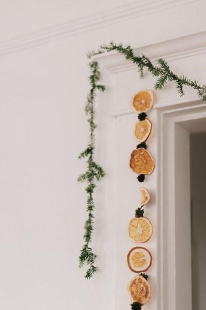 γιρλάντα πορτοκάλια πόρτα