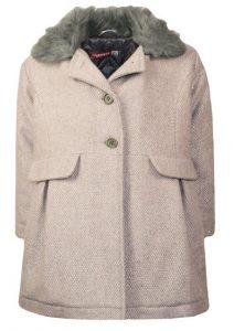 ροζ γκρι παιδικο παλτο