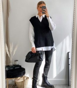 γυναικείο ντύσιμο με γιλέκο