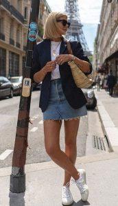 καθημερινό outfit με φούστα