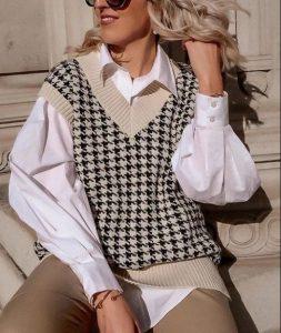 κομψό ντύσιμο με γιλέκο