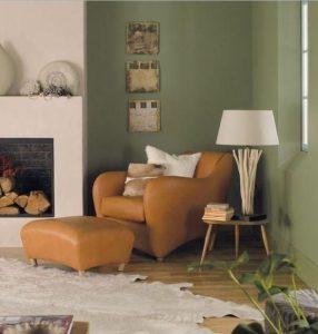 λευκό πράσινο σαλόνι