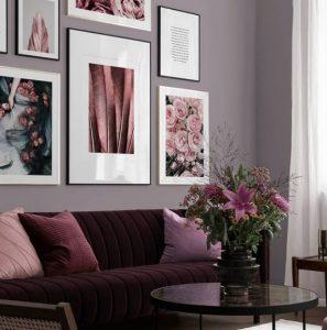 λιλά μοβ σαλόνι