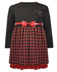 μαυρο κοκκινο φορεμα