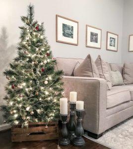 minimal χριστουγεννιάτικη διακόσμηση