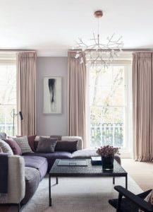 μοβ λιλά σαλόνι