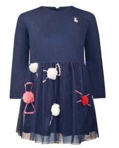 μπλε φορεμα με σχεδια