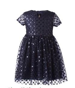 μπλε λαμπερο φορεμα mini raxevsky