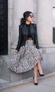 ντύσιμο με μακριά φούστα