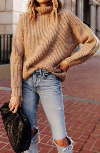 ντύσιμο με πουλόβερ