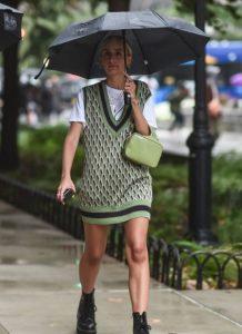 πλεκτό γιλέκο φόρεμα