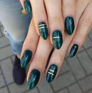 πράσινα χρυσά νύχια