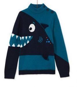 παιδικο πουλοβερ με καρχαρια