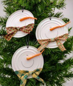 στολίδια χιονάνθρωποι για το δέντρο των χριστουγέννων