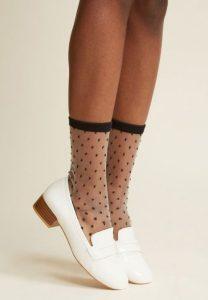 συνδυασμός κάλτσας παπουτσιού