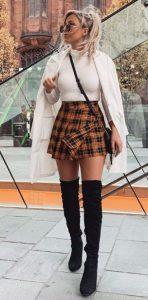 σύνολο με mini φούστα