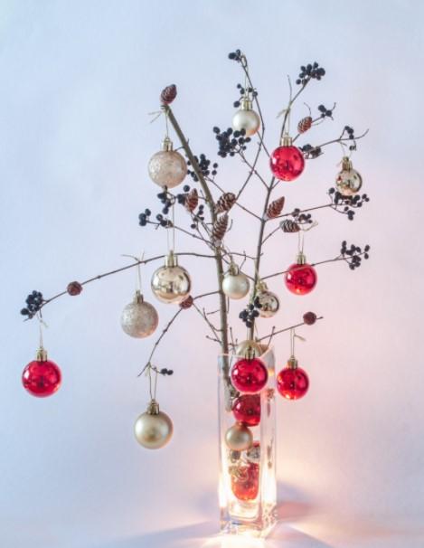 βάζο κλειδιά μπάλες διακοσμήσεις βάζα Χριστούγεννα