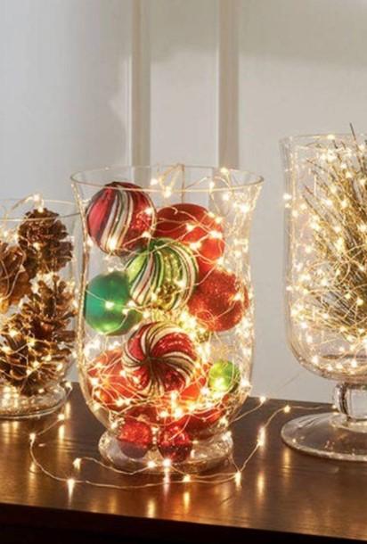 βάζο μπάλες λαμπάκια διακοσμήσεις βάζα Χριστούγεννα