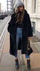 χειμερινό ντύσιμο με γούνα