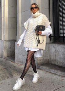 χειμωνιάτικο φόρεμα γιλέκο