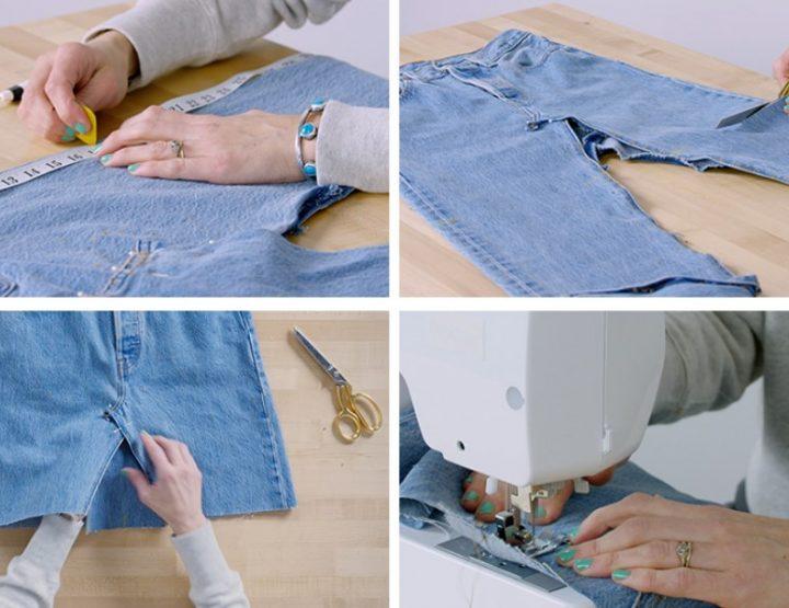 Πως να φτιάξεις μια DIY φούστα από τζιν παντελόνι!