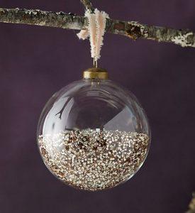χειροποίητη χριστουγεννιάτικη μπάλα