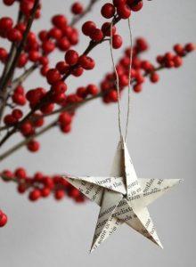 χριστουγεννιάτικο στολίδι από χαρτί
