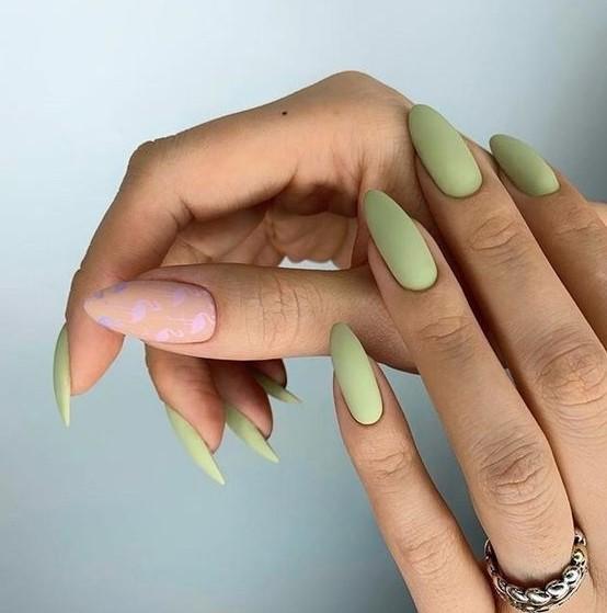 βεραμάν almond νύχια σχήμα νυχιών