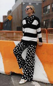 άνετο ασπρόμαυρο outfit