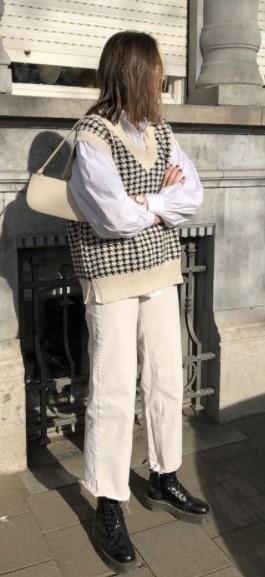 άσπρο παντελόνι γιλέκο