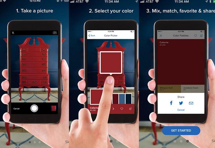 capture color εφαρμογη για διακοσμηση