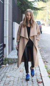 παντελόνι δερμάτινο και παλτό