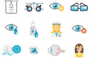 εξετάσεις στον οφθαλμίατρο σκίτσο