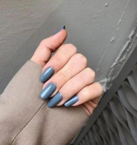 γαλαζια μπλε νυχια