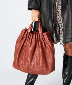 γυναικεία τσάντα με σούρες
