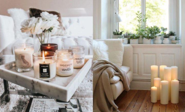 5 Ιδέες για να διακοσμήσεις όμορφα το σαλόνι με κεριά!