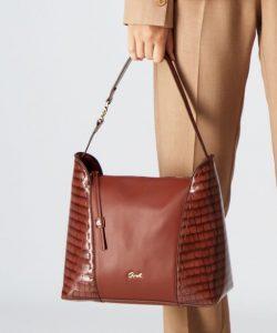 καφέ τσάντα