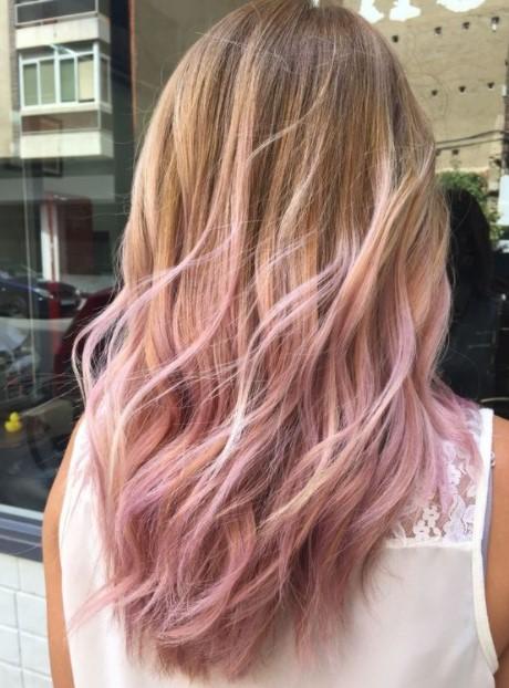 ξανθά μαλλιά balayage ροζ balayage χρώμα μαλλιών