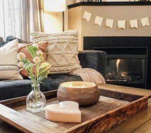 ξύλινο τραπεζάκι σαλονιού ρουστίκ