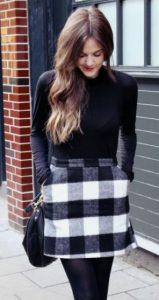 μάλλινη καρό φούστα