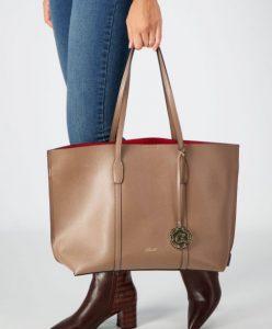 μεγάλη μπεζ τσάντα