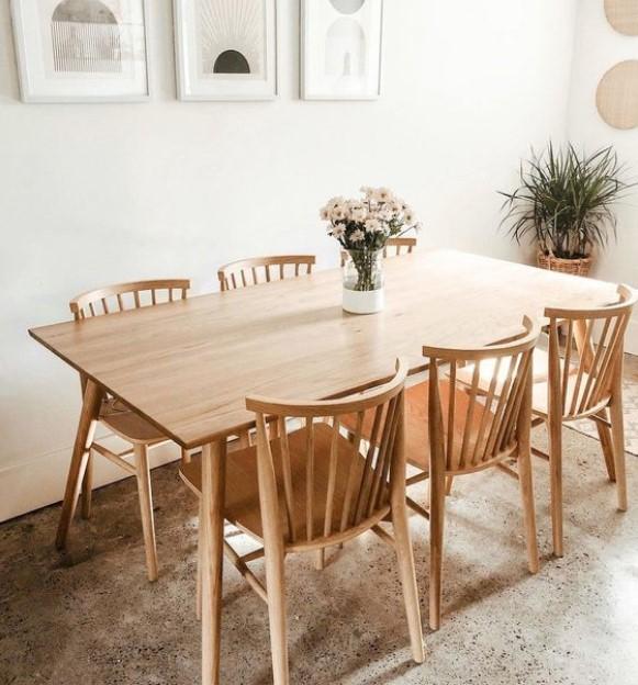 minimal τραπεζαρία ξύλινη