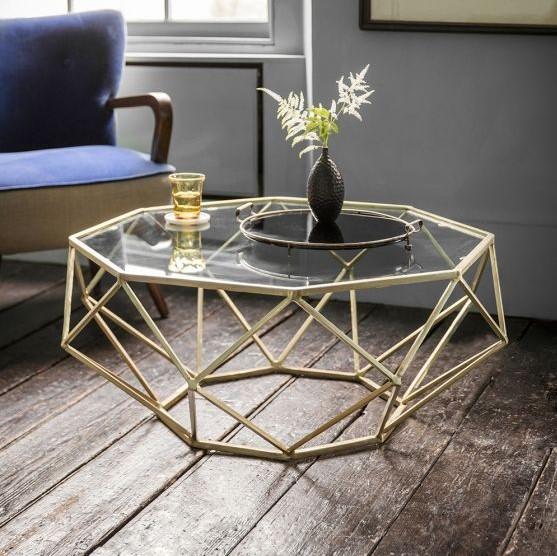 μοντέρνο τραπέζι χρυσό τραπεζάκια σαλονιού