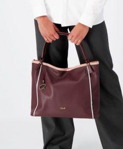 μοβ τσάντα ώμου