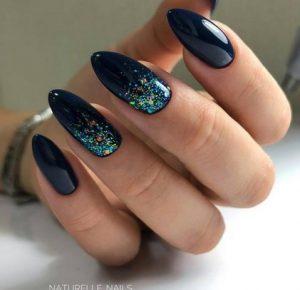 μπλε μεπρασινο νυχια