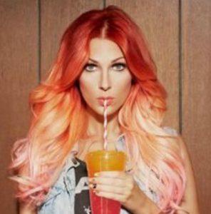 πορτοκαλι ομπρε με ροζ